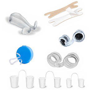 Selection of nasal spreaders, nasal dilators and nasal clips